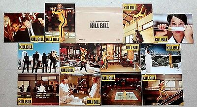 2003 KILL BILL Quentin Tarantino Uma Thurman 12 French Lobby Cards