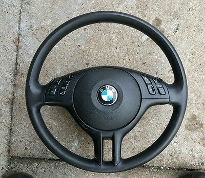 Bmw E46 3 Series Multifunction Leather Steering Wheel With Airbag