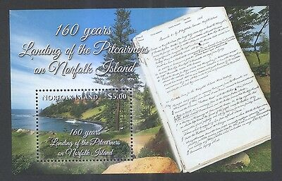Norfolk Island 2016 (Last Issue) 160 Years Pitcainers Landing Souvenir Sheet Mnh