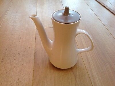Poole pottery Two Tone, Beige And Cream coffee pot