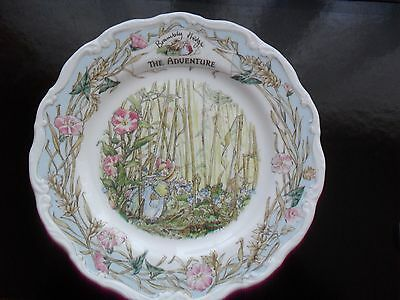 """ROYAL DOULTON BRAMBLY HEDGE """"THE ADVENTURE"""" PLATE 1st QUALITY"""