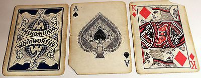 Vintage Pack Of Playing Cards Advertising Woolworths
