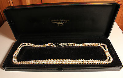 Vintage Rosita Faux Pearl Two-String Necklace In Box