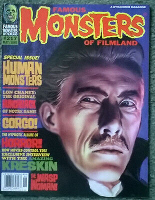 famous monsters of filmland #217,may,1997,nm condition,bagged & boarded