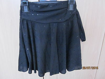 Girls Black Skirt With Sequins - 5yrs - Next - Excellent Condition