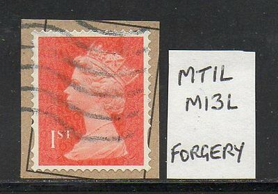 1st Class Security Machin MTIL M13L - Fake/Forgery - Fine Used