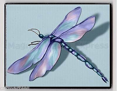 METAL MAGNET Jewel Tone Dragonfly Pink Turquoise Purple Insect MAGNET X