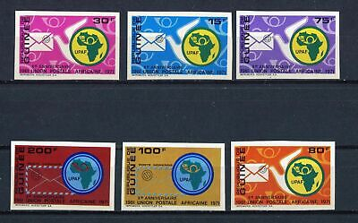 s12259) GUINEA MNH** Nuovi** 1972, African postal union 6v IMPERFORATED