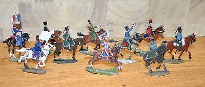 Napoleonic Wars Lead/Tin Flat Soldiers - Mixed French Chasseurs a Cheval