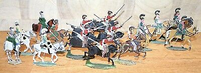 Napoleonic Wars Lead/Tin Flat Soldiers - Mixed French Carabiniers
