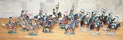 Napoleonic Wars Lead/Tin Flat Soldiers - Mixed French Lancers