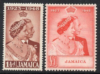 Jamaica: 1948 KGVI SW set (2) SG 143-4 mint