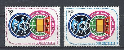 s12271) GUINEA MNH** Nuovi** 1983, Int. year of disabled people 2v