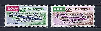 s12272) GUINEA MNH** Nuovi** 1963, Airline to New York 2v
