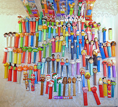 Lot of 123 PEZ Dispensers; One Yellow US Zone Germany 1940s