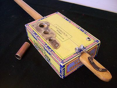 Vintage Cigar Box Guitar,One String Diddley Bow Electro Acoustic Christmas Gift!