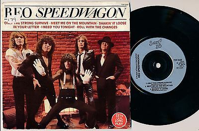 """REO SPEEDWAGON - Only The Strong Survive EP - 7"""" 45 rpm single"""