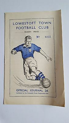 Lowestoft Town V West Ham United 'A'  11.12. 1954