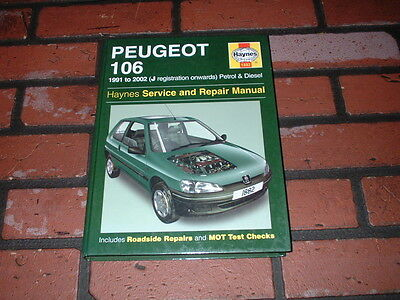 Haynes Manual For Peugeot 106. 1991 To 2002. J Reg Onwards. Petrol & Diesel