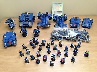 Job lot Warhammer Plastic/Metal figures and vehicles + spare parts