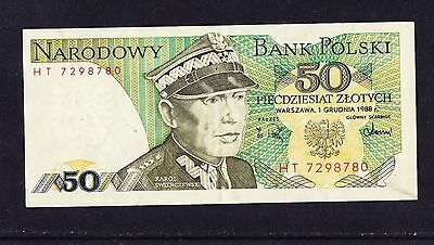 Poland 1988 50 Zlotych Banknote Circulated