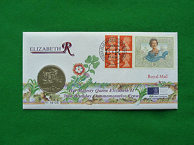 1996 £5. QEII 70th Birthday Commemorative Crown, a year 1996 £5 coin. Mint PNC