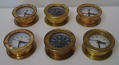 6 pcs U.S. Navy BRASS Marine WALL Clock - Little One- 100% SATISFACTION