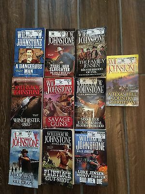 Lot Of 10 Western Books By William W. Johnstone