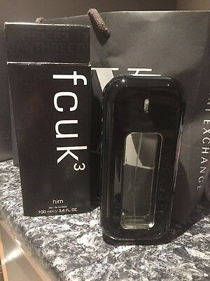 FCUK 3 Him 100ml EDT Spray - NEW Xmas For Him, Dad, Brother, Uncle.