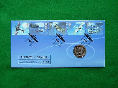 1997 £2. Flights of Genius, a year 1997 £2 coin. Mint PNC
