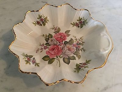 """Vintage Old Foley """"Harmony Rose"""" 6"""" Bon Bon Dish. Made In England. Discontinued"""