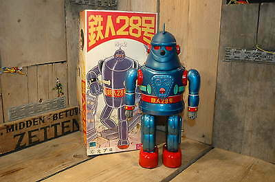 Osaka Tin Toy Institute - Tetsujin 28 No. 2 Space Robot Japan in rare blue color