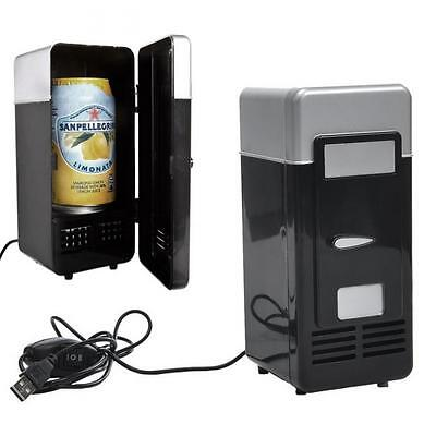 Usb Mini Fridge Cooler Warmer Refrigerator Drink Beverage Can Pc Laptop Portable