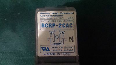 Relay and Control Corp 8 Pin Plug in Relay 10A DPDT 12 VAC Coil  USED
