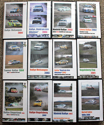 12 x Video Rallye National 1999-2004 - Braach, Melsungen, Taunus, Vogelsberg,...