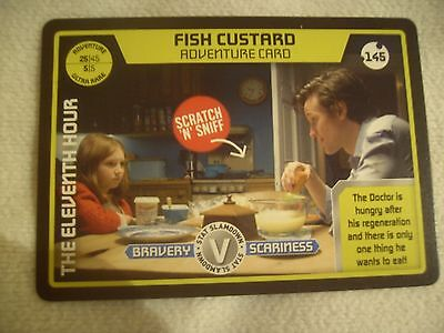 Dr Doctor Who - Monster Invasion Ultra Rare Card. Number 145 - Fish Custard