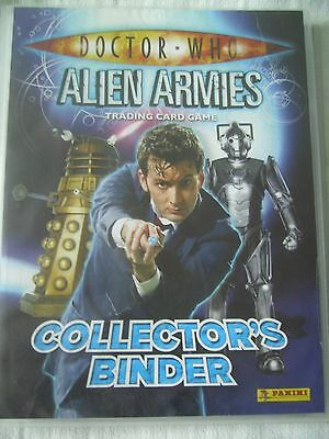 Dr Doctor Who -Alien Armies Binder + 287 Trading Cards . Rare & Common Cards
