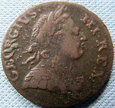 1774 King George III British US Colonial Halfpenny Non-Regal Historic Old Coin