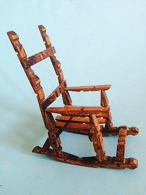 VINTAGE LITTLE DOLLS ROCKING CHAIR ,DECOR ,ACCESSORY DOLL HOUSE,CHRISTMAS Gift