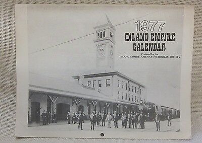 Vintage 1977 Inland Empire Railroad Calendar, Inland Empire Historical Society