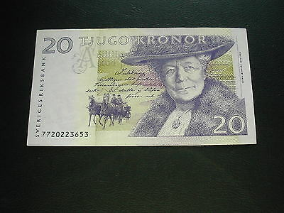 Sweden 20 Kronor Banknote / Good Condition