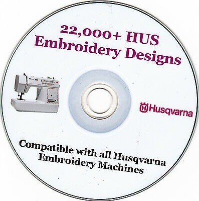 Husqvarna Machine Embroidery Designs HUS format + Full Colour Catalogue