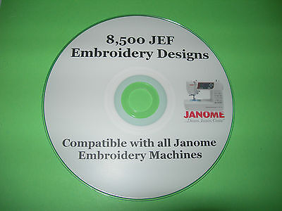 Janome JEF Machine Embroidery Designs CD Collection over 8,000 Designs