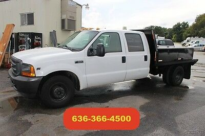 2001 Ford F350 Crew Cab Flatbed Used V10 Auto Tool Boxes Work Truck Tow Pkg