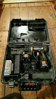 Panasonic hammer drill with 2 batteries ey6903