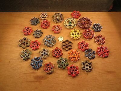 30 Vintage Valve Handles Water Faucet Knobs STEAMPUNK Industrial Arts Crafts #B