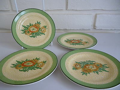 Booths Plates X4 Silicon China Vintage