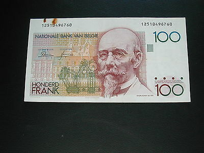 Belgium 100 Francs Banknote 1982-94 / Good Condition