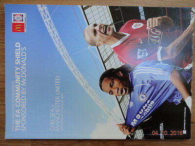 FA COMMUNITY SHIELD OFFICIAL FOOTBALL PROGRAMME 2007 - CHELSEA v MAN UNITED