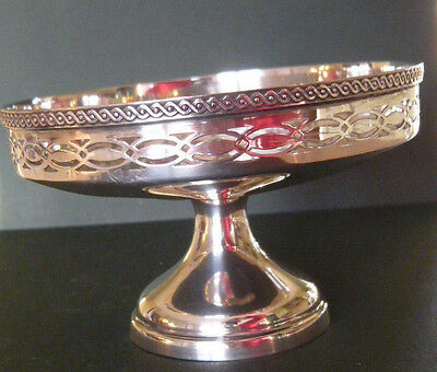 Solid Silver Small Pedestal Bon Bon Dish or Tazza by Mappin & 1925 Sheffield